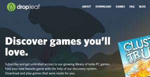 Dropleaf - новая платформа для инди игр