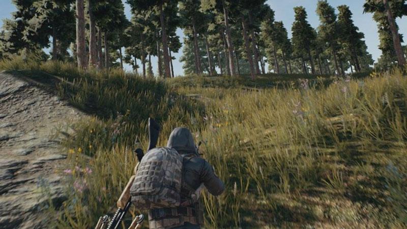Геймплей игры PUBG, скриншот