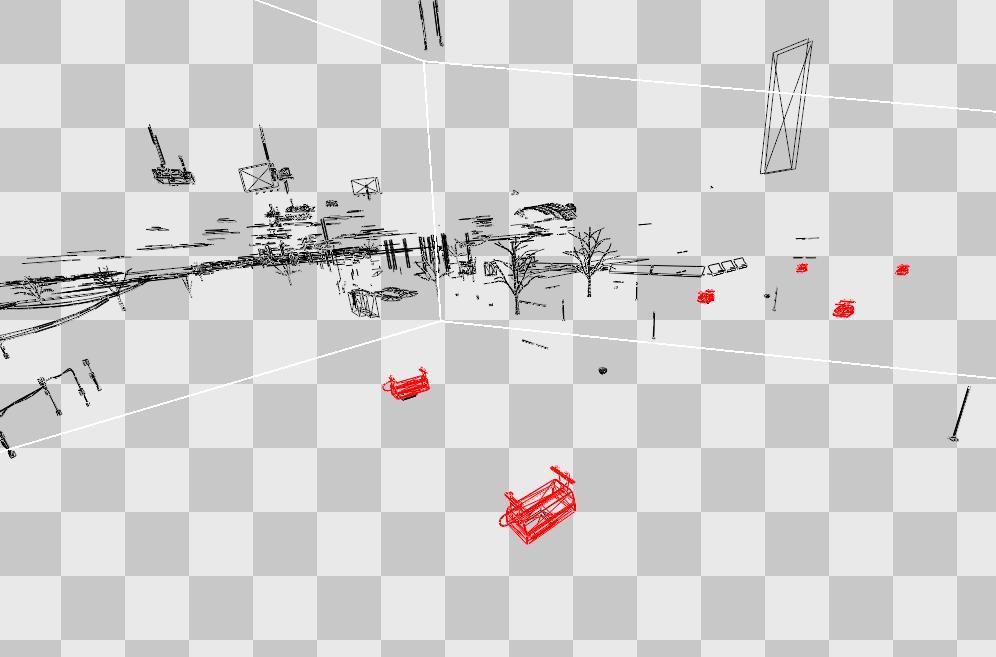 реконструкция расположения объектов в сцене