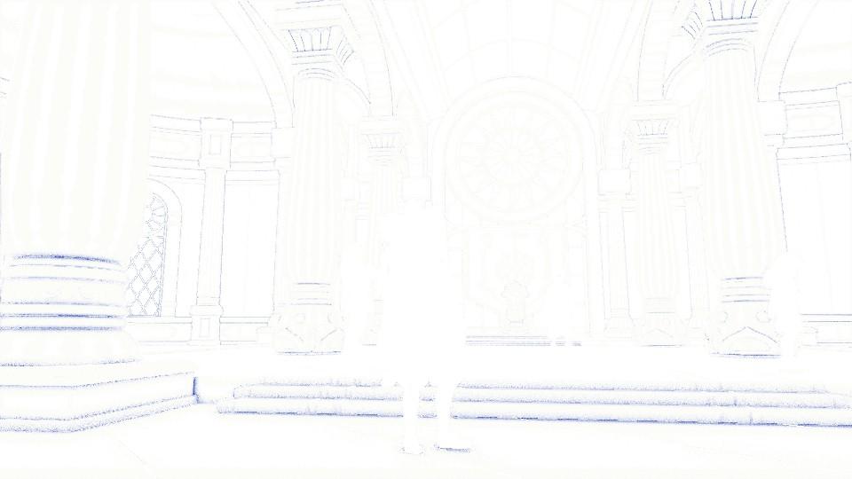 отбрасывание пикселей принадлежащих персонажам