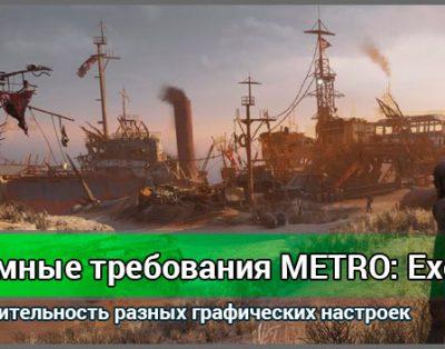 Системные требования Metro: Exodus