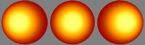 симуляция свечения сферы изнутри
