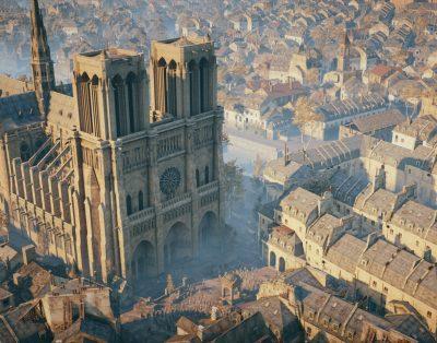 Ubisoft планирует помочь с восстановлением Нотр-Дам де Пари