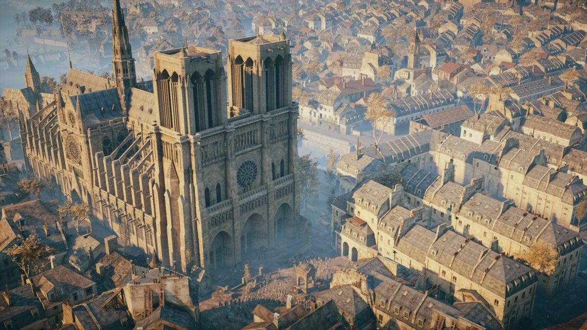 Ubisoft раздает бесплатно Assassin's Creed Unity и планирует помочь с восстановлением Notre Dme de Paris