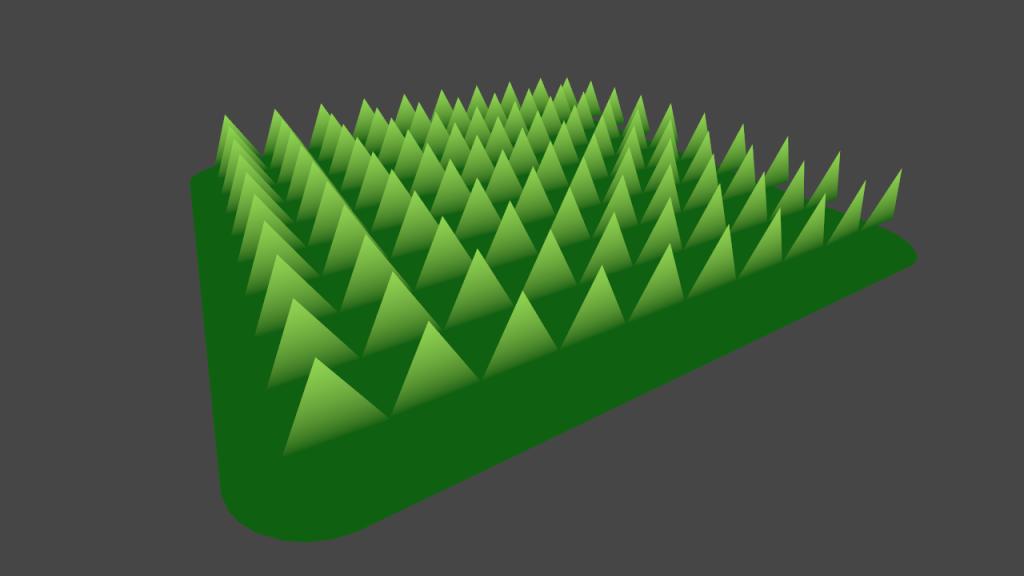 градиент окрашивания травы