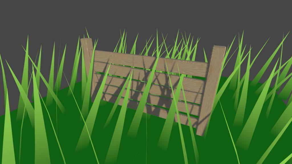 трава отбрасывает тень
