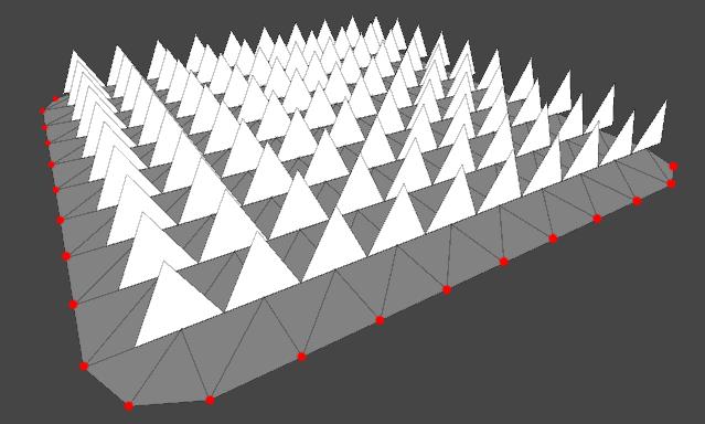 расположение вершин на полигональной сетке