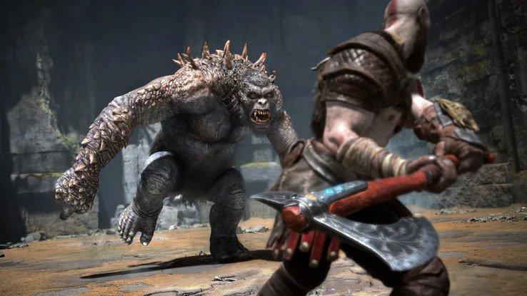Бой в God of War