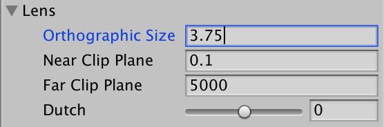 Orthographic Size виртуальной камеры