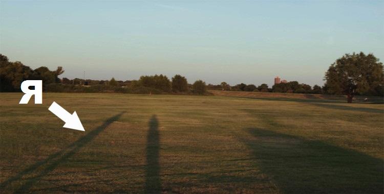 длинные тени на закате