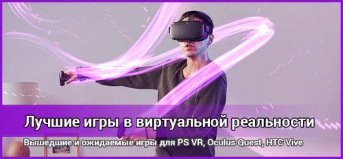 Лучшие VR игры на ПК 2021 и будущие проекты