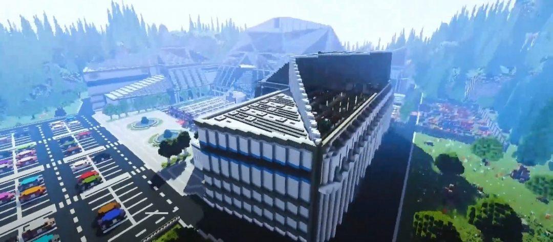 Моддер воссоздал Gamescom 2020 в Minecraft