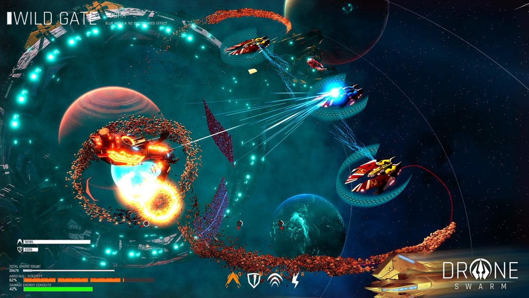 Обзор Drone Swarm: Tactical Sliced Fruit Space Ninja