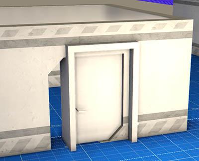 Проем двери съехал в сторону из-за выбранного для объекта невысокого разрешения